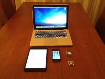 Vários dispositivos Apple